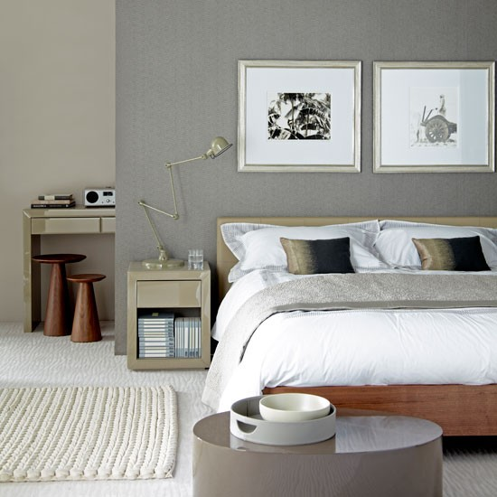 Slaapkamer Ideeen Taupe : Slaapkamer taupe sophisticated grey bedroom ...