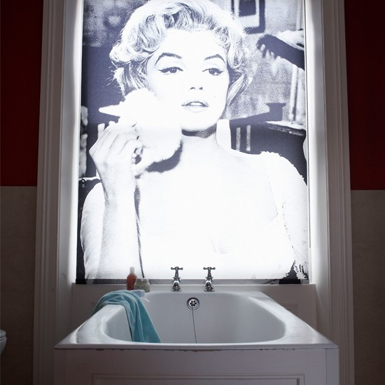 Bathroom with bespoke printed blind | Bathroom design | PHOTO GALLERY | Housetohome
