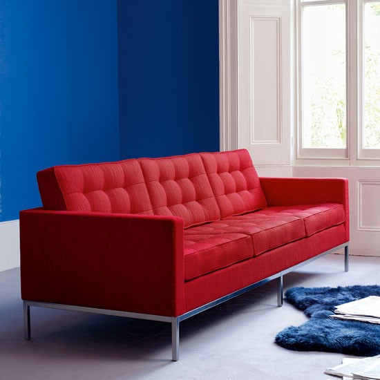 Red Sofa By Knoll Livingetcs Design Classics Modern Furniture And .