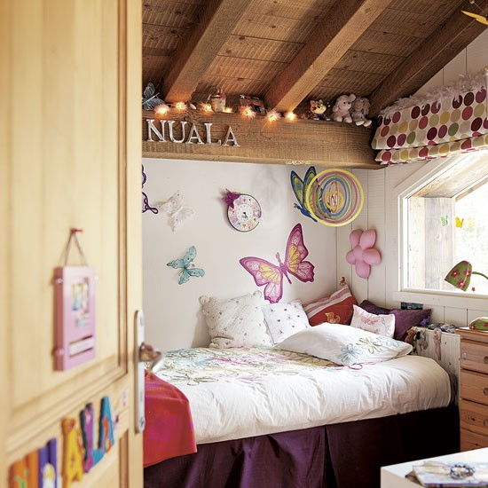 Girls Bedroom Romantic Alpine Chalet House Tour