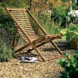 Hardwood deckchair, £45, Tesco Direct.