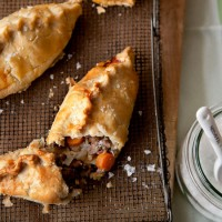 Country pasties with spring lamb
