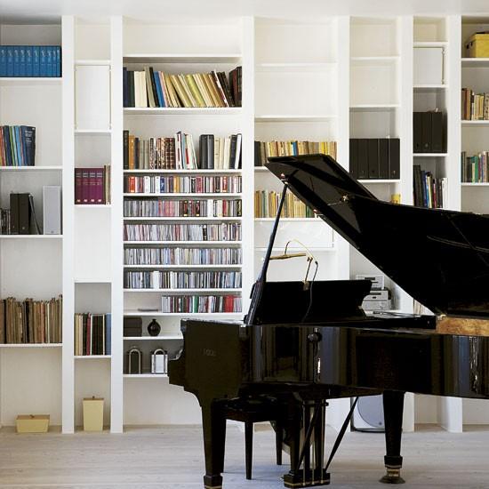 Dedicated music area take a tour around a cool danish for Piani loft appartamento