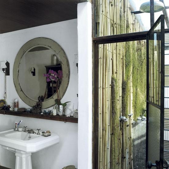 Outdoor shower room | Take a a tour around supermodel Tatjana Patitz's Californian ranch | house tours | housetohome