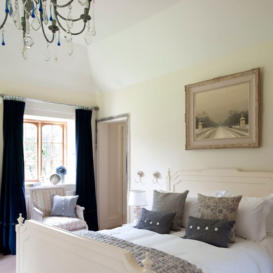 French-style country bedroom | Bedroom decorating ideas | Wool rug | Image | Housetohome