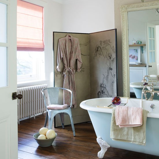 Glamorous country bathroom | Bathroom design | Freestanding bath | Image | Housetohome