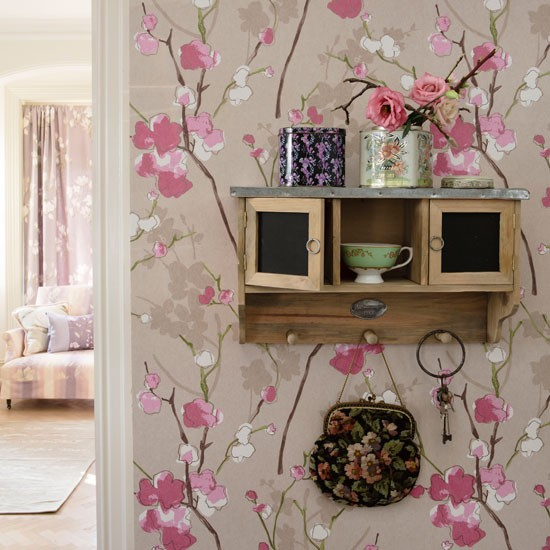 Pretty floral hallway | Hallway ideas | housetohome.