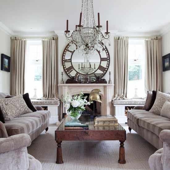 Grand living room chandelier | Formal living rooms - 10 of the best | Living room ideas | PHOTO GALLERY | Housetohome.co.uk