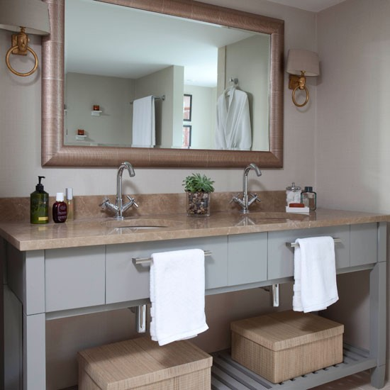 Georgian bathroom | Bathroom idea | Twin sink | Image | Housetohome