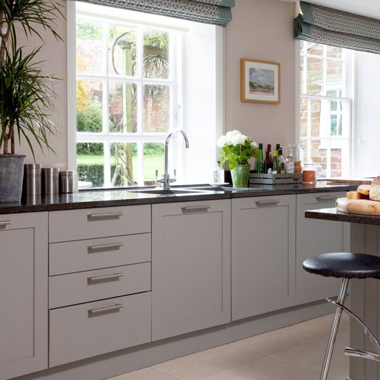 Grey country kitchen | Kitchen idea | Blind | Image | Housetohome