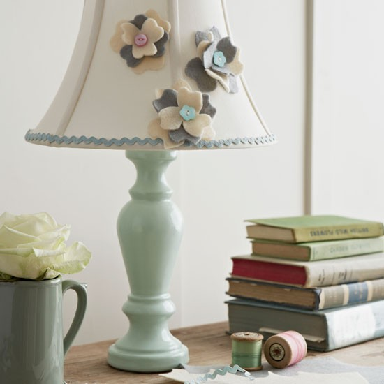 Decorative living room lamp | Living room design idea | Hamdmade lampshade | Image | Housetohome