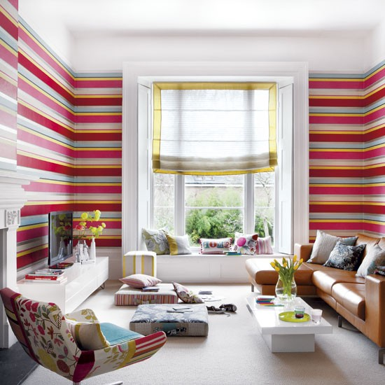 modern stripe living room living room wallpaper idea