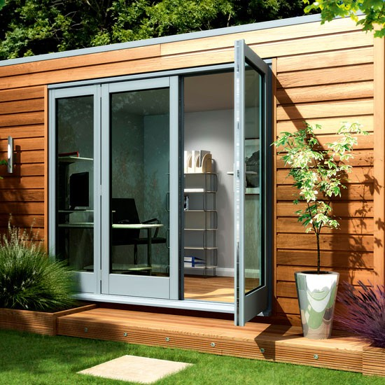 Modern cube from decorated shed how to buy sheds and for Garden shed ideas uk