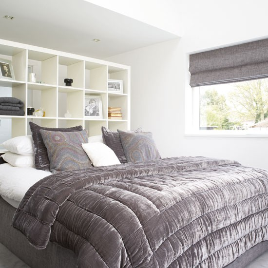 Sophisticated bedroom | Bedroom idea | Velvet bedlinen | Image | Housetohome