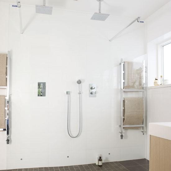 White walk-in shower | Bathroom idea | Mosiac tiles | Image | Housetohome