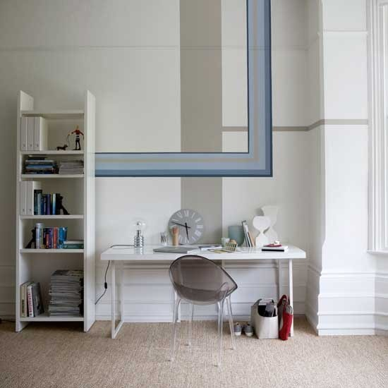Paint geometric borders | Transform your walls | Home ideas | PHOTO GALLERY | Housetohome.co.uk
