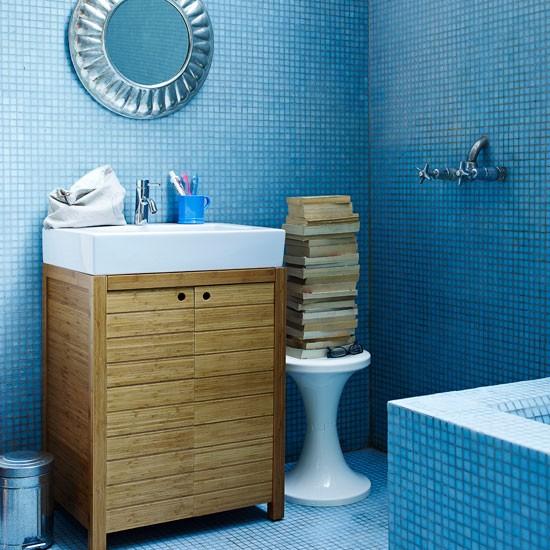Mosaic blue bathroom | Bathroom idea | Mosaic tile | Image | Housetohome