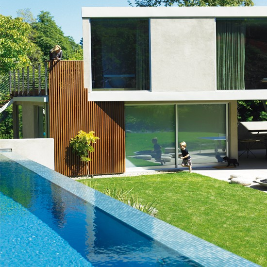 Outdoor pool | Eco new build | House tours | Modern decorating ideas | PHOTO GALLERY | Livingetc | Housetohome