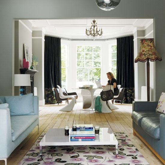 Take a look around a stylish london villa for Living room decor ideas uk