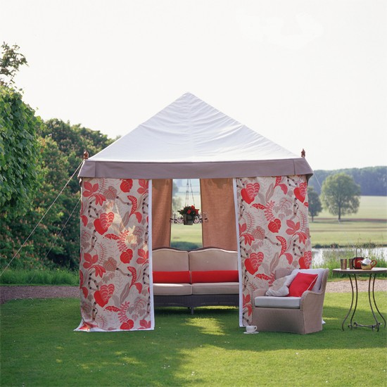 Outdoor Wedding Gazebo Decorating Ideas : Floral marquee relaxing garden looks best