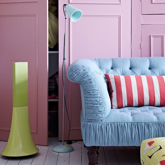 Pastel living room | Living room paint idea | Colourful decorating idea | Image | Housetohome