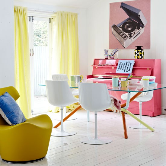 Colourful dining room | Dining room idea | Colourful decorating | Image | Housetohome