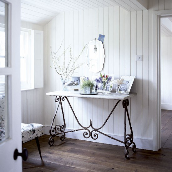 Modern country style home tour the white house - Country cottage hallways ...