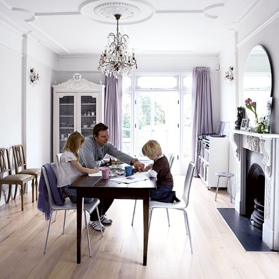 Elegant victorian terrace house tour for Terraced house dining room ideas