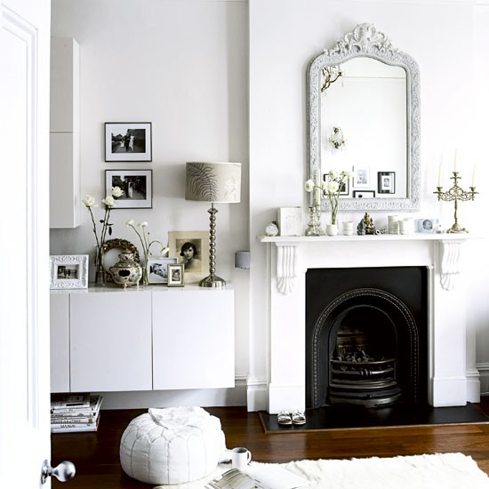Living room elegant victorian terrace house tour for Minimalist victorian living room