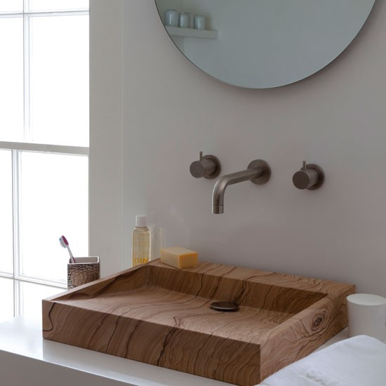 Wood-inspired bathroom | Bathroom idea | Wooden basin | Image | Housetohome