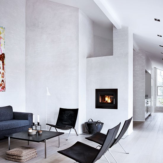 Spacious white living room | Living room idea | Lounge chair | Image | Housetohome