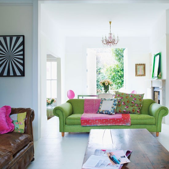 Modern colourful living room | Living room idea | Sofa | Image | Housetohome