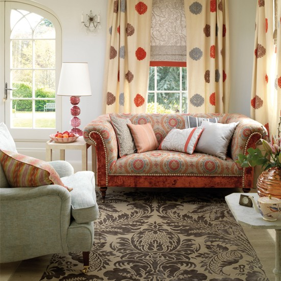 Country style living room curtains
