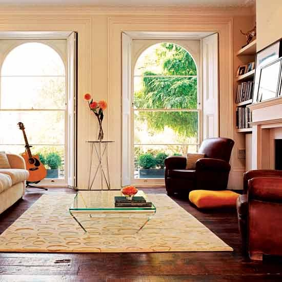 Living room georgian terraced house in west london for Georgian living room ideas