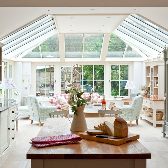 Open plan country conservatory conservatory design idea for House plans with conservatory