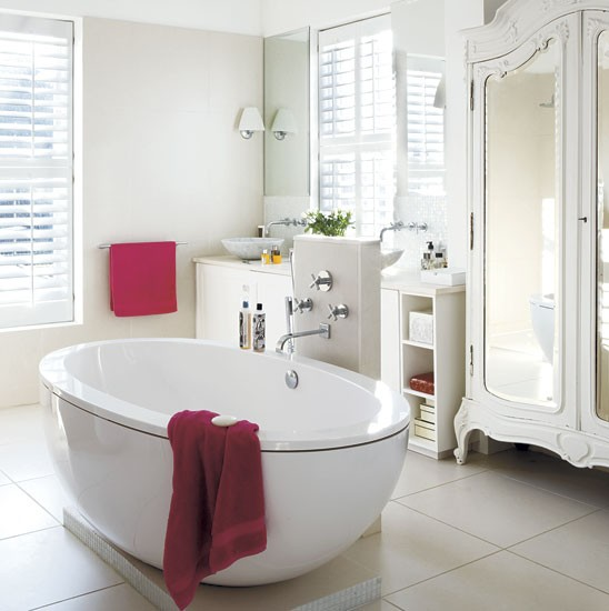 Bathroom Step Inside A Relaxed Pure White Family Home