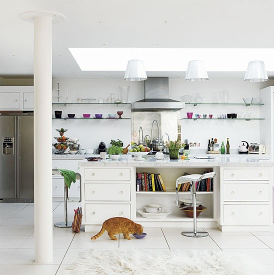 Spacious kitchen | Step inside a warm and serene pure-white family home | house tours | housetohome