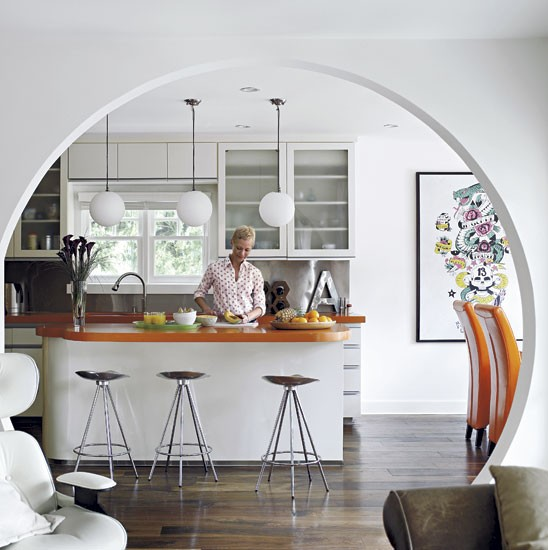 Kitchen archway | take a tour around model Angie Hill's serene Hollywood home | house tours | housetohome