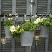 Garden hanging pot display