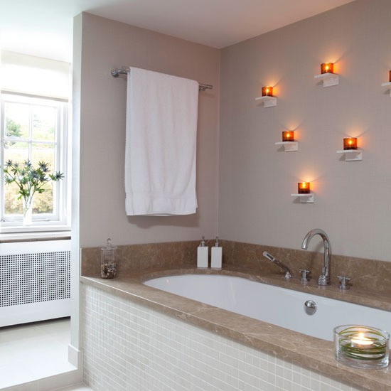 Marble and tealights | Hotel-style bathrooms - 10 of the best | Bathroom inspiration | PHOTO GALLERY | Housetohome.co.uk