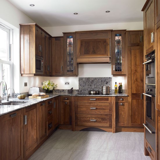 Take a look around this chic walnut kitchen housetohome for Walnut kitchen designs