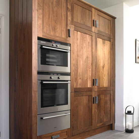 double oven take a look around this chic walnut kitchen