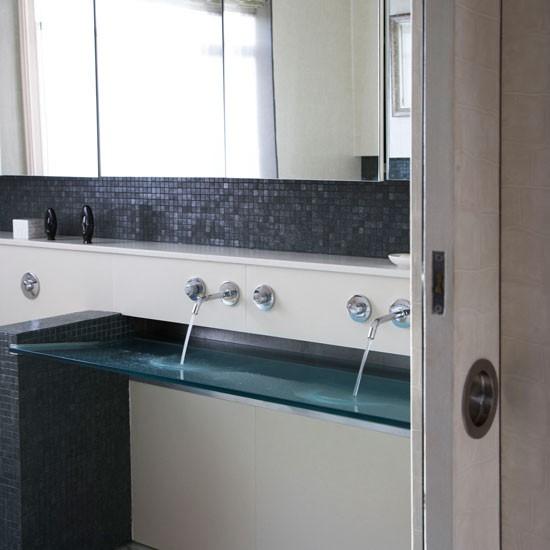 modern bathroom with sinks double sink bathroom image