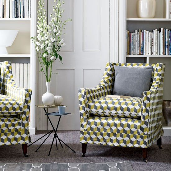 Use bright geometric fabric | Decorating with 1950s flair | Traditional decorating ideas | PHOTO GALLERY | Homes & Gardens | Housetohome
