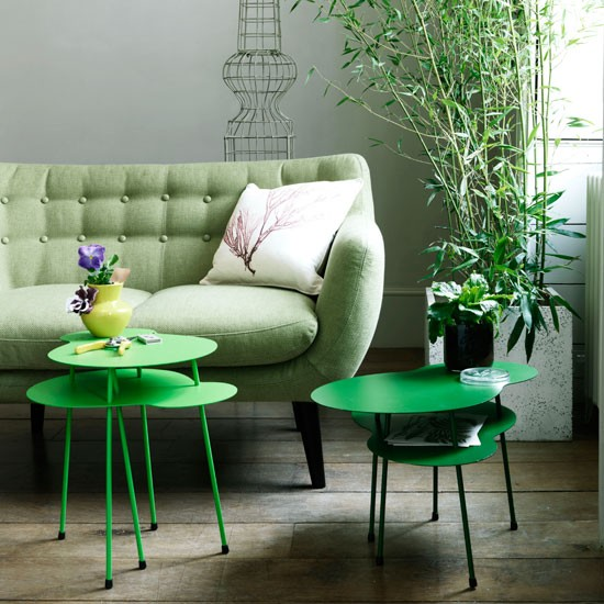 Botanical living room | Green sofa | Decorating idea | Image | Housetohome