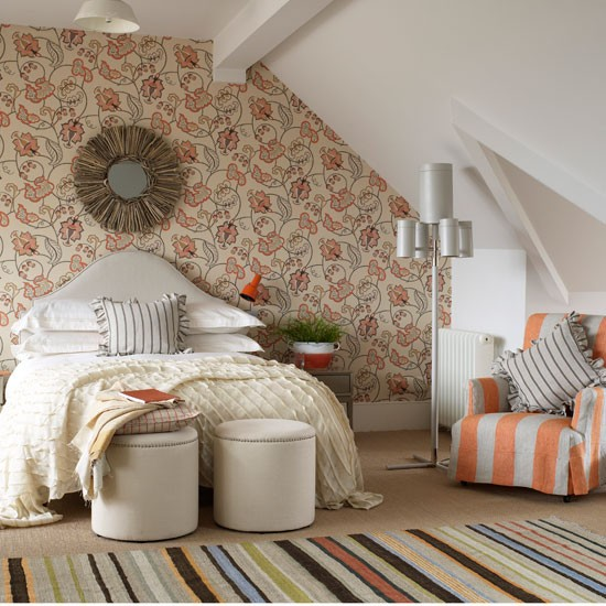 Warm attic bedroom | Attic design idea | Decorating ideas | Image | Housetohome