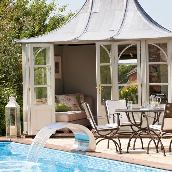 Garden summerhouse | Swimming pool | Garden idea | Countryside retreat | Image | Housetohome