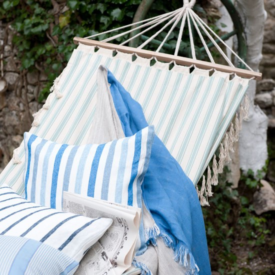 Nautical garden hammock | Cushion | Garden idea | Coastal living | Image | Housetohome