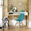 Lettered wallpaper home office