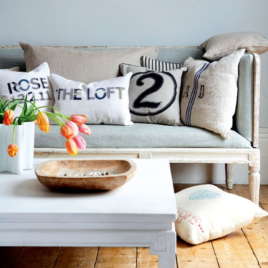 Opt for fun cushions | Personalised living room | Cushion | Living room idea | Personal style | Image | Housetohome